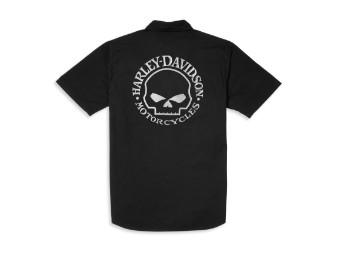 Willie G Skull Mechanics Shirt kurzarm Hemd