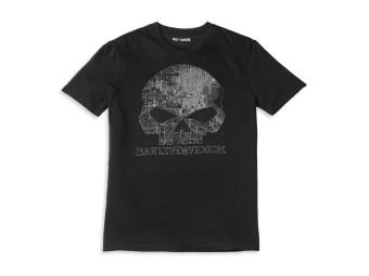 Milwaukee Map Skull Graphic Tee T-Shirt