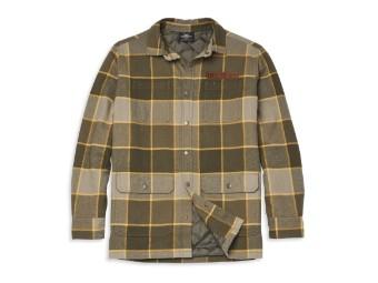 Vintage Plaid Shirt Jacket Hemd Jacke