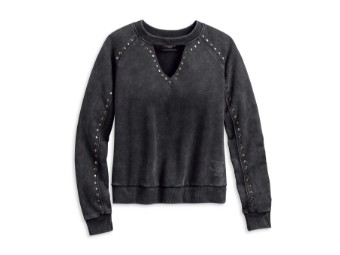 Studded Winged Damen Pullover