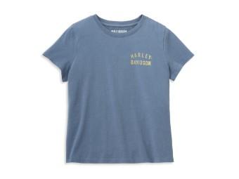 Racer Font Graphic Tee Damen T-Shirt