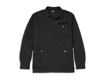 Quilted Nylon Shirt Jacket Hemdjacke