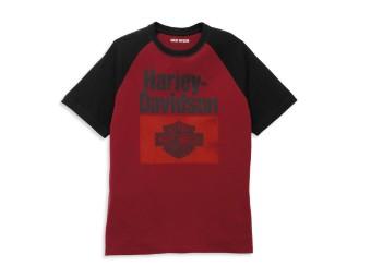 Heritage Sign Raglan Sleeve Graphic Tee T-Shirt