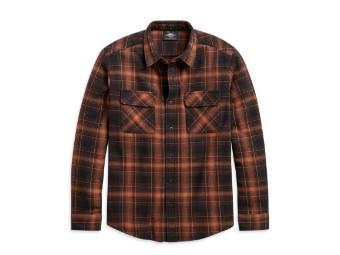 Vintage Plaid Shirt Langarm Hemd