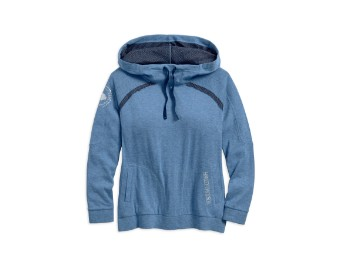Wide Neckline Pullover Damen Hoodie