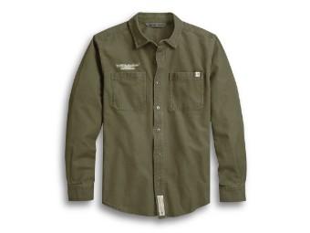 #1 Skull Kalamata Shirt langarm Hemd