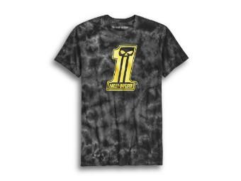 Slim Fit #1 Skull Tie Dye Slim Fit Tee T-Shirt