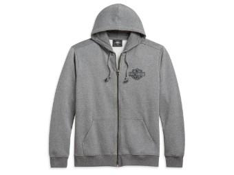 Dark Grey Heather Classic Logo Zip Hoodie