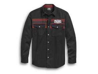 Chest Stripe Shirt langarm Hemd