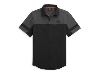 Colorblock Performance Short-Sleeve Shirt Hemd