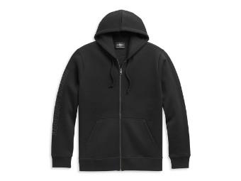 # 1 Logo Zip Front Hoodie Sweatshirt