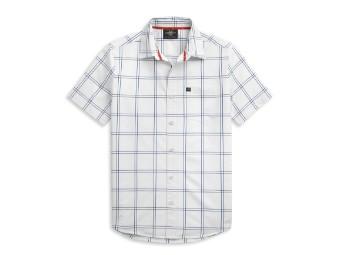 Block Letter Windowpane Shirt Hemd