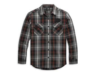 Bar & Shield Logo Shirt langarm Hemd