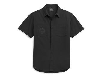 Skull Logo Two Pocket Shirt kurzarm Hemd