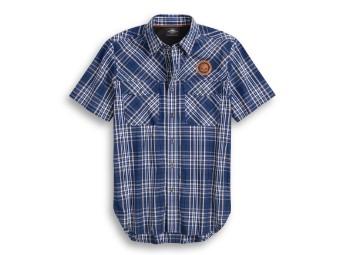 Performance Vented Plaid Shirt Hemd