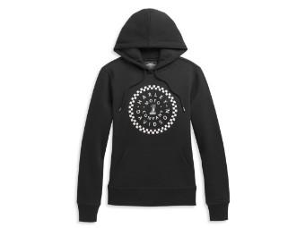 #1 Circle Graphic Pullover Hoodie Damen Sweatshirt