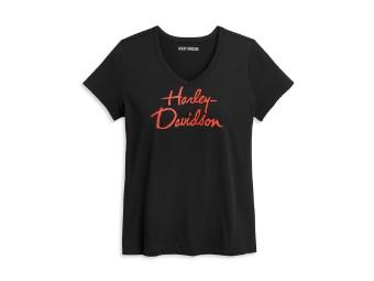 Script Graphic Tee Damen T-Shirt
