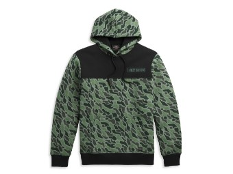 Camouflage Colorblock Pullover Hoodie