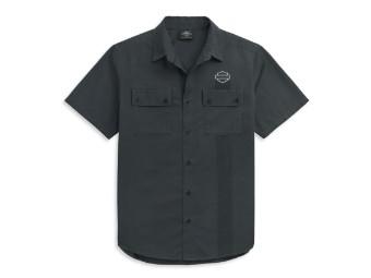 Two Pocket Logo Shirt kurzarm Hemd