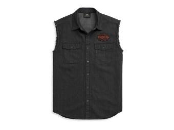 Bar & Shield Denim Blowout Hemd