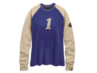 Felt Letter Race Jersey Top Damen Sweatshirt