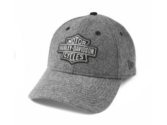 9TWENTY Felt Appliqué Bar & Shield Adjustable Baseball Cap Schirmmütze