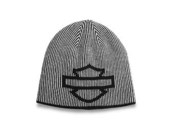 Open Bar & Shield Reversible Knit Hat Wendemütze