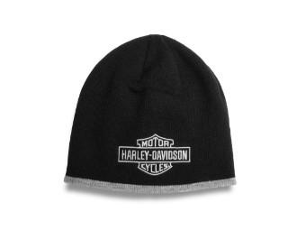 Bar & Shield Two Tone Knit Hat Mütze