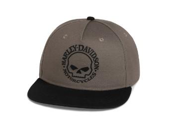 Willie G Skull Grey Baseball Cap Schirmmütze