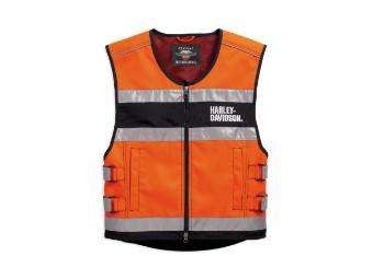 Hi-Visibility Orange Reflective Vest Warnweste
