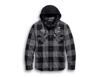 Lined Hooded Shirt Hemd Jacke