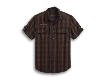 Plaid Short Sleeve Shirt Hemd