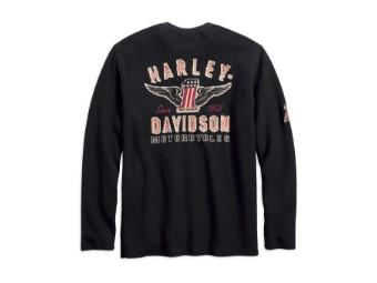 Harley-Davidson#1 Genuine Classics Henley Longsleeve