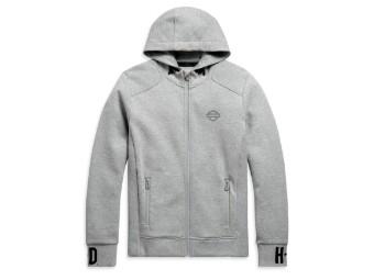 Rib-Knit Side Hoodie Sweatshirt