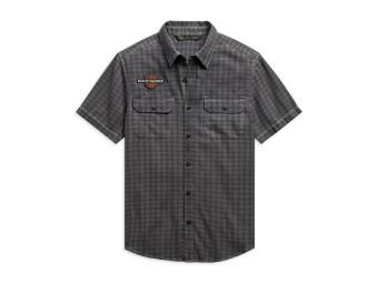 Vintage Logo Plaid Shirt kurzarm Hemd