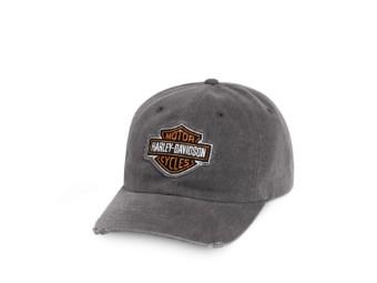 Grey Frayed Logo Cap Schirmmütze