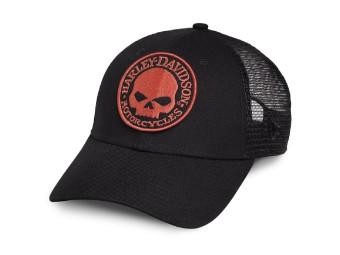 Orange Skull Trucker Cap Schirmmütze