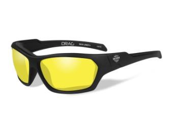 Wiley X Drag Yellow Motorrad Brille