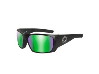 Wiley X Keys Green Mirror Motorrad Brille