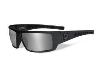 Wiley X Nitro Smoke Silver Flash Motorrad Brille