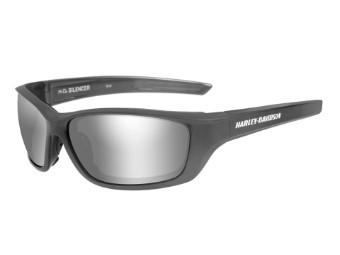 Wiley X Silencer Smoke Grey Silver Flash Motorrad Brille