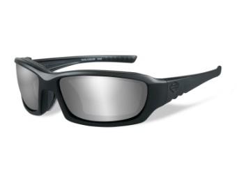 Wiley X GEM PPZ Silver Flash Motorrad Brille (polarisierend)