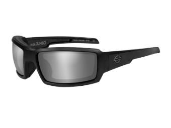 Wiley X Jumbo PPZ Silver Flash Motorrad Brille (polarisierend)