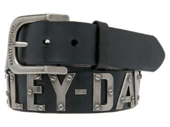Metal Font Belt Leder Gürtel