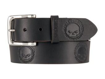 Willie's World Belt-Black Leder Gürtel