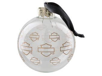 Repeat Silhouette Bar & Shield Ball Ornament Weihnachtskugel