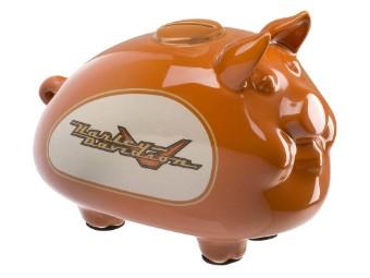 1990er Tank Graphic Hog Bank Orange Sparschwein