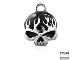 MOD Black Flame Skull Ride Bell Glöckchen
