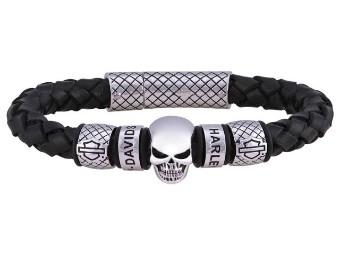 MOD Skull Braided Bracelet Armband