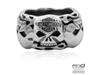 MOD Multi Skull Band Ring